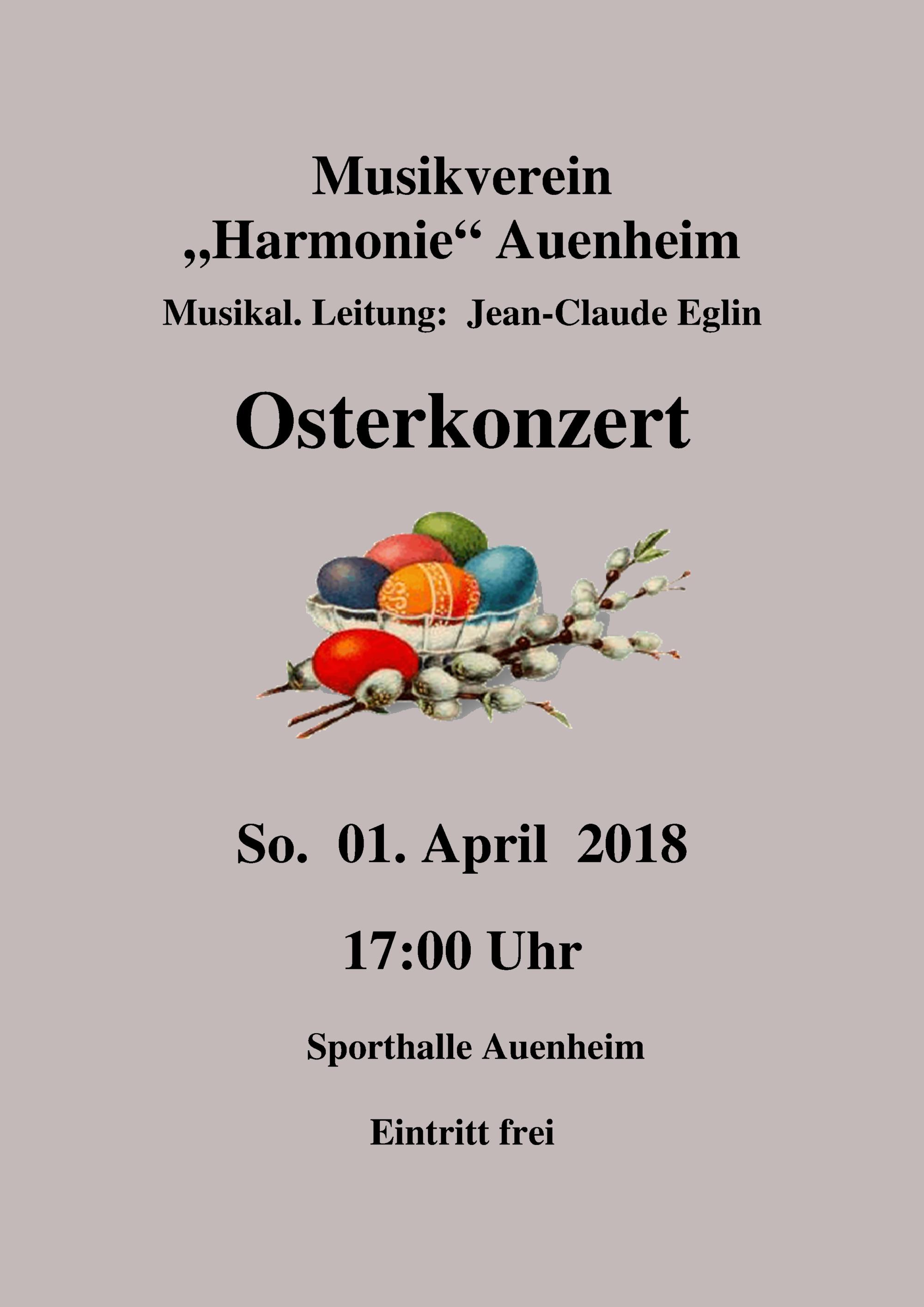Osterkonzert 2018 @ Sporthalle Auenheim