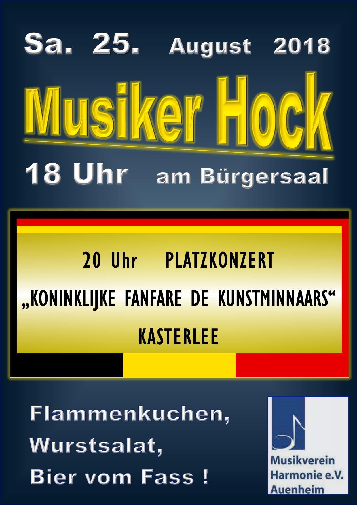 Musiker Hock mit MV Kasterlee (Belgien) @ Bürgersaal Vorplatz